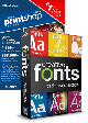 The Print Shop Deluxe 6.0 with Creative Traditional Fonts Collection