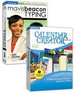 Mavis Beacon Teaches Typing Anniversary Edition/Calendar Creator Deluxe v12.2