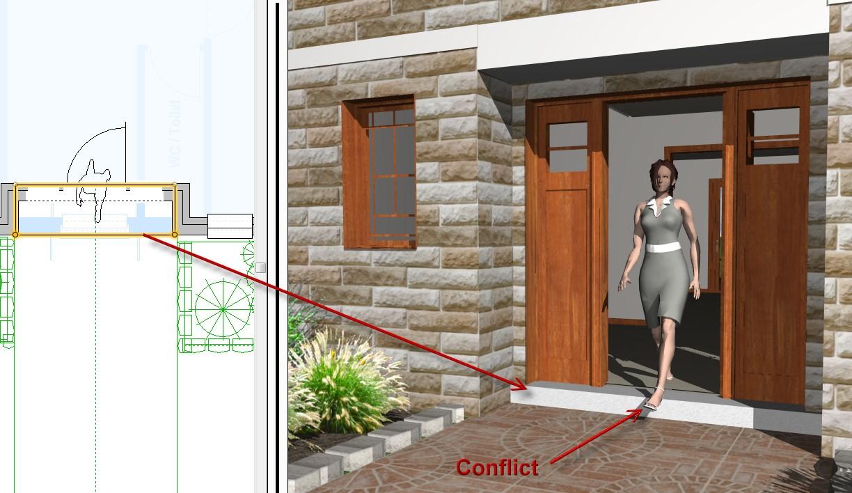 Entry Door Conflict