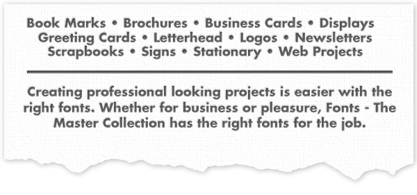 Fonts Collection Project List