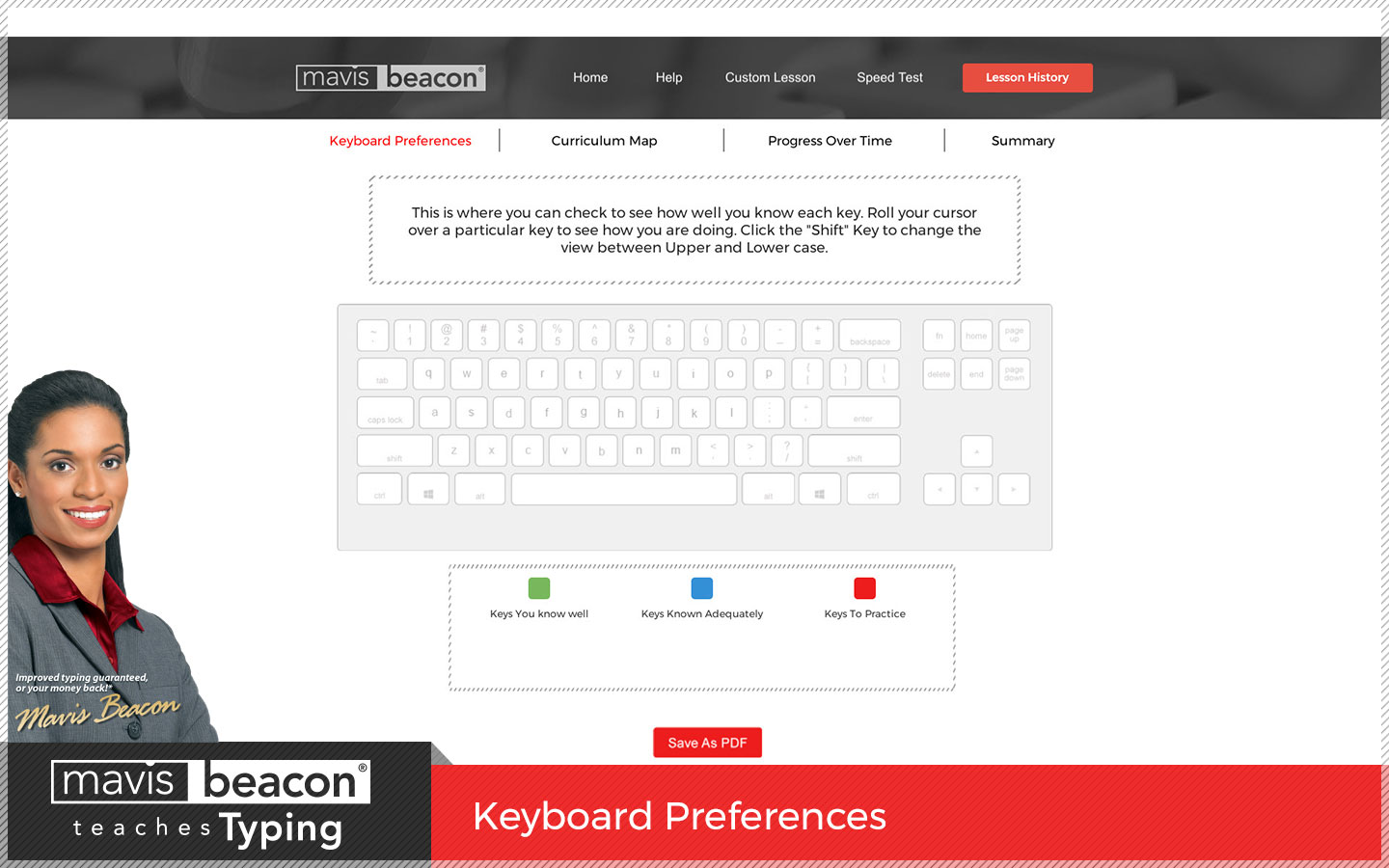 Mavis Beacon Teaches Typing KeyboardPreferences