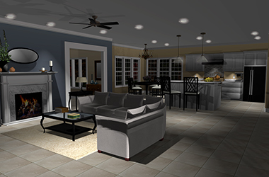 Punch Software KitchenLivingRoom Lighting
